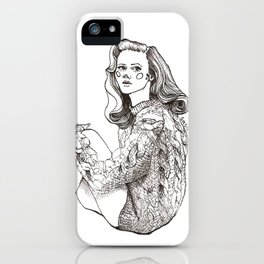 Girl in a Sweater, ink iPhone Case