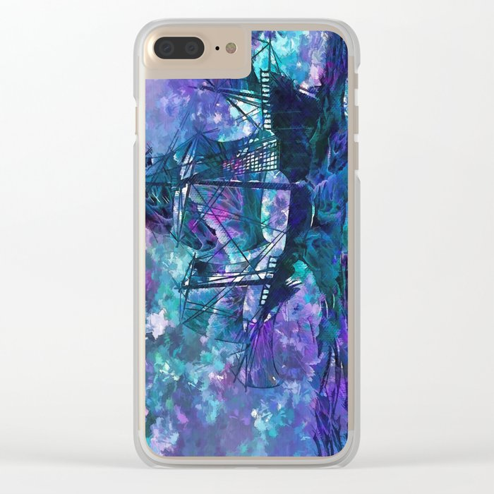 Ghost Ship Clear iPhone Case