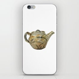 Photograph of Stoneware Teapot, Ceramic Art by Rostislav Eismont of Whipple Hill Art Collective iPhone Skin