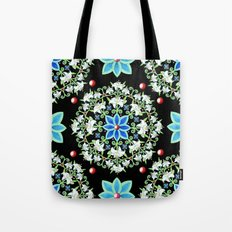 Folkloric Lily Medallion Tote Bag