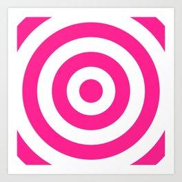 Target (Dark Pink & White Pattern) Art Print