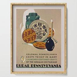 Vintage poster - Rural Pennsylvania Serving Tray