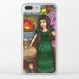 Nights at Delphine's Tavern. Clear iPhone Case