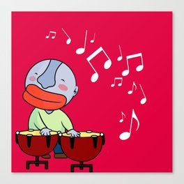 Let's play bongos Canvas Print