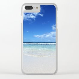 Isla Saona Caribbean Beach Clear iPhone Case