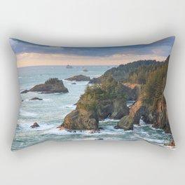 Oregon's Natural Bridges Sunset Rectangular Pillow
