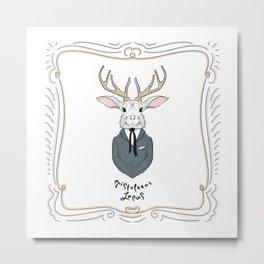 Epistolarus Lepus (milk) Metal Print