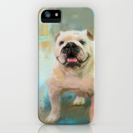 White English Bulldog iPhone Case