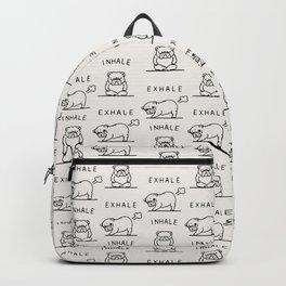 Inhale Exhale English Bulldog Backpack
