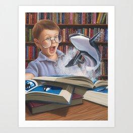Where Books Come to Life Art Print