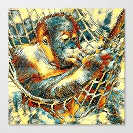 AnimalArt_OrangUtan_20170904_by_JAMColorsSpecial Canvas Print