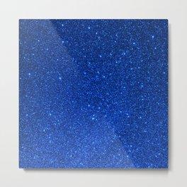 Sapphire September Libra Blue Birthstone Shimmering Glitter Metal Print