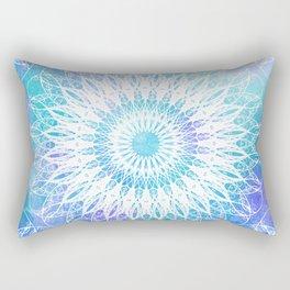 Daisy Blue Mandala Rectangular Pillow