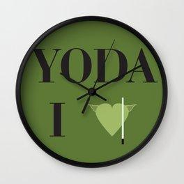 I heart Yoda Wall Clock