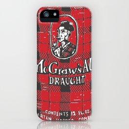 McGraws Ale iPhone Case