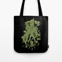 scott pilgrim Tote Bags featuring Hylian Pilgrim by SBTee's