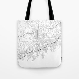 Minimal City Maps - Map Of Stamford, Connecticut, United States Tote Bag