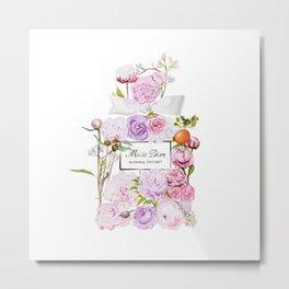 Parfum Perfume Fashion Floral Flowers Blooming Bouquet Metal Print