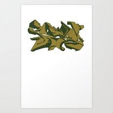 Style grafffiti green Art Print