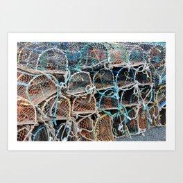Harbour life Art Print