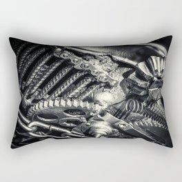 Machine Part BNW Abstract II Rectangular Pillow