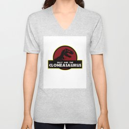 Billy And The Cloneasaurus Unisex V-Neck