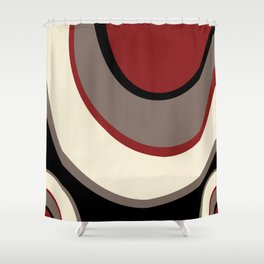 """Abstract Retro Waves"" Shower Curtain"
