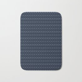 Abstract Indigo Blue Dye Lines Bath Mat