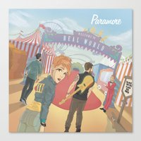 paramore Canvas Prints featuring Paramore - Welcome to Real World by Zinenkoij