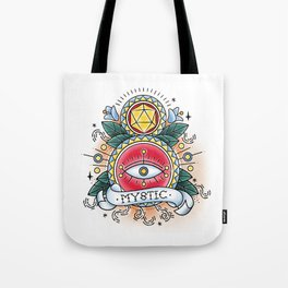 Mystic - Vintage D&D Tattoo Tote Bag