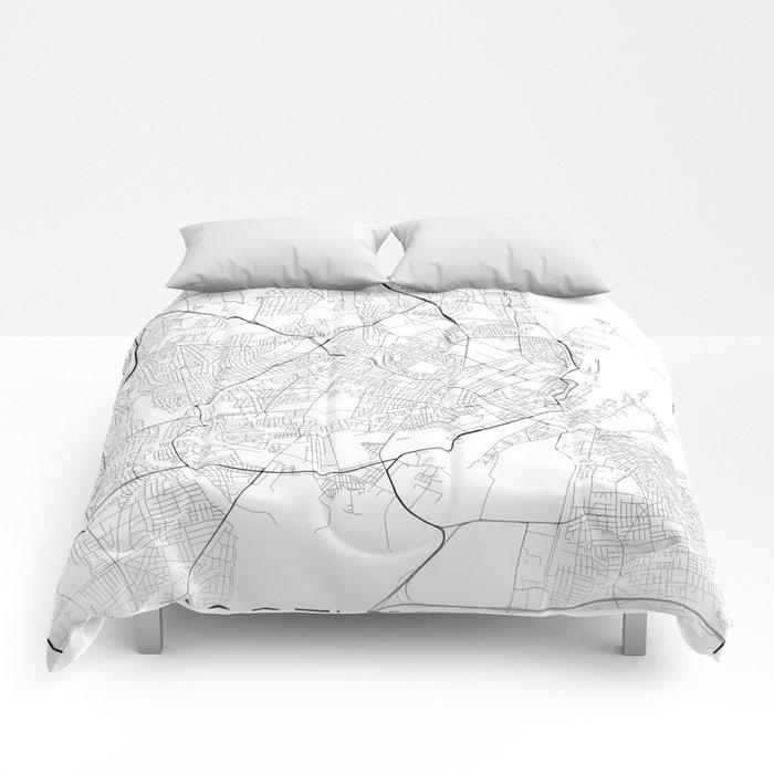 Minimal City Maps - Map Of Copenhagen, Denmark. Comforters