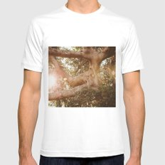 Labyrinth of light MEDIUM White Mens Fitted Tee