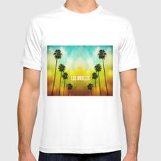 Paradise Awaits MEDIUM White Mens Fitted Tee