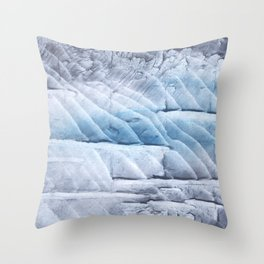 Light steel blue clouded wash drawing Throw Pillow