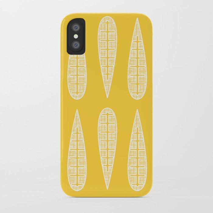 Golden Gum Leaves iPhone Case