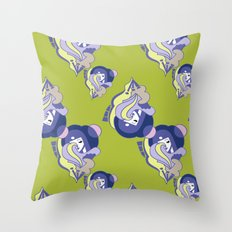 Moon Phase Art Deco Pattern Throw Pillow
