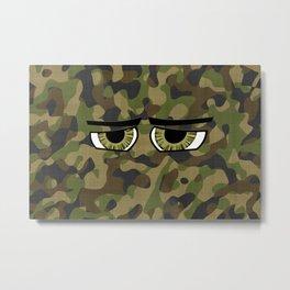 Camo Eyes Metal Print
