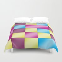 tetris Duvet Covers featuring Tetris blanket by Roberlan Borges