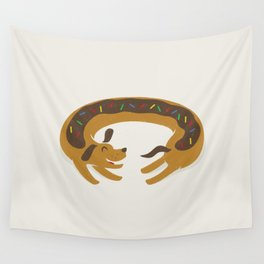Sprinkled Dognut Wall Tapestry