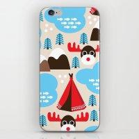 scandinavian iPhone & iPod Skins featuring Scandinavian retro moose pattern by Little Smilemakers Studio