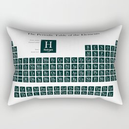 Periodic Table of Elements - Forest Green Rectangular Pillow