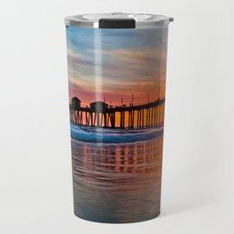 HB Sunsets - Sunset At The Huntington Beach Pier 3/10/16 Travel Mug