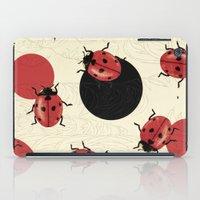 polka iPad Cases featuring Ladybird Polka by Paula Belle Flores