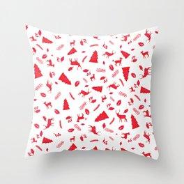 Scandinavian Christmas Pattern Throw Pillow