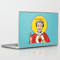 christ Laptop & iPad Skins featuring Auntie-Christ by MilkGhost