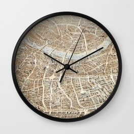 Vintage Pictorial Map of London (1851) Wall Clock