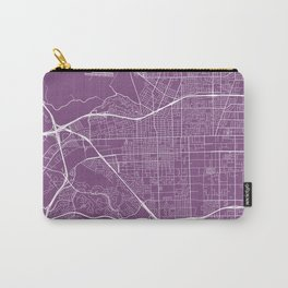 Pomona Map, USA - Purple Carry-All Pouch