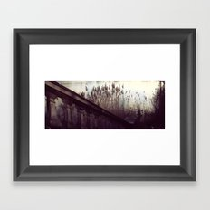 Month by The Lake Framed Art Print