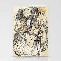 aries Stationery Cards featuring Aries by Anna Rosenfeld