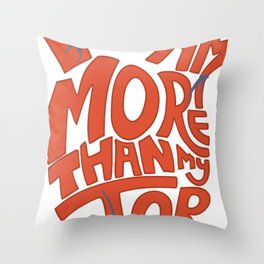 Job =/= Self Throw Pillow